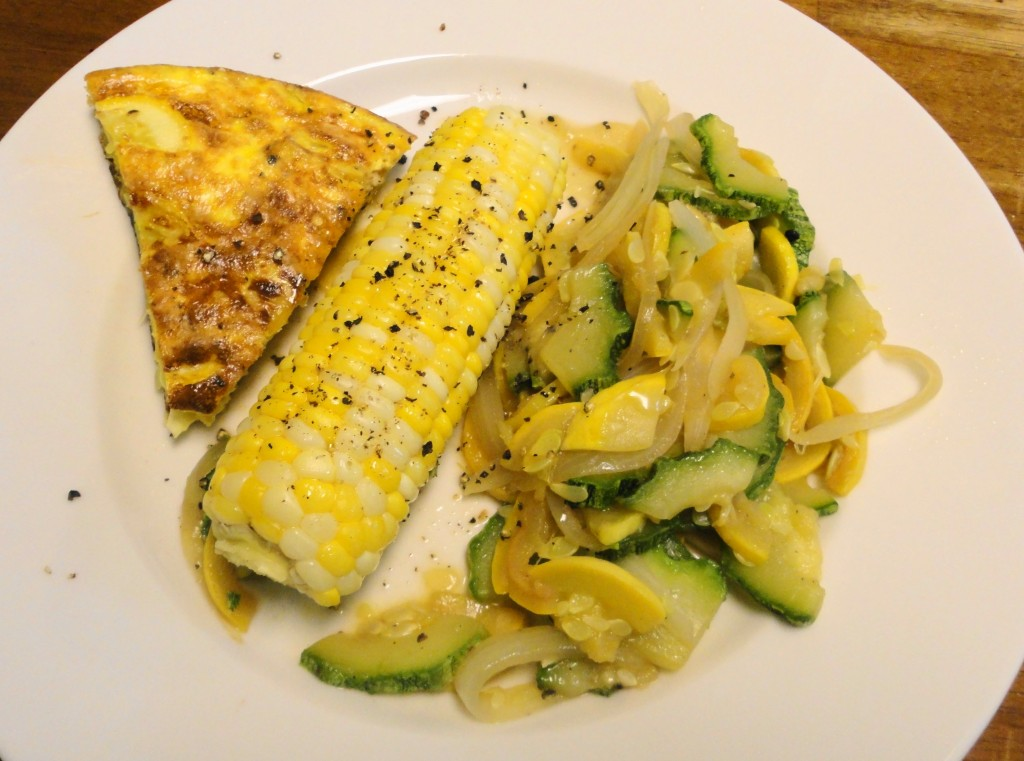 Frittata with Summer Squash and Corn