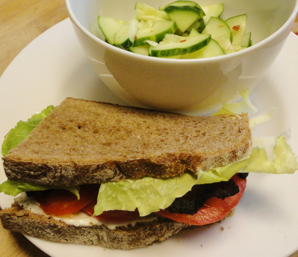 BLT with Cucumber Salad