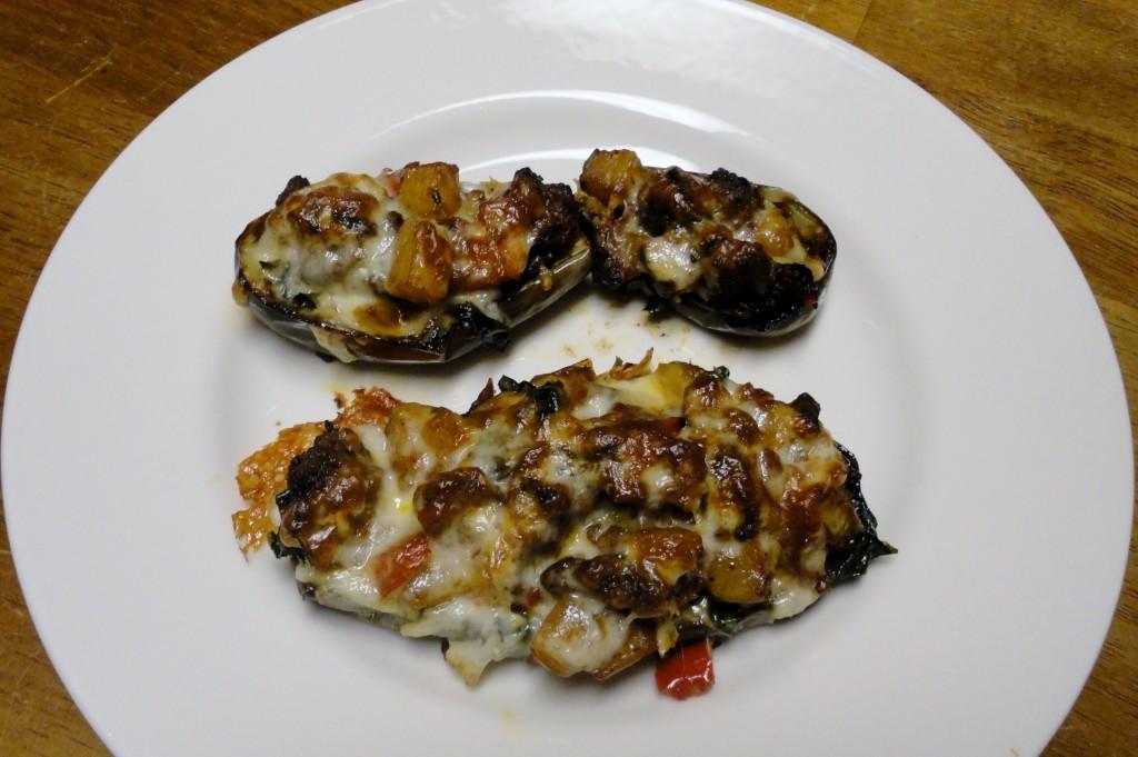 Eggplant Lasagna Boats