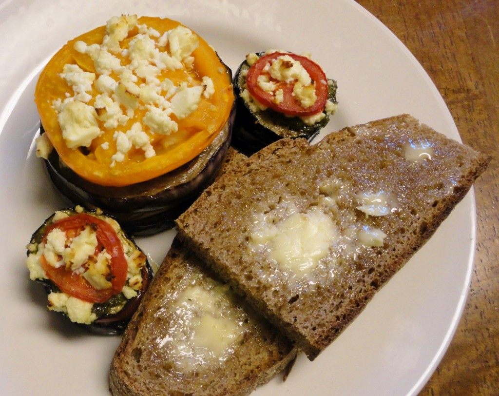 Eggplant Tomato Stacks