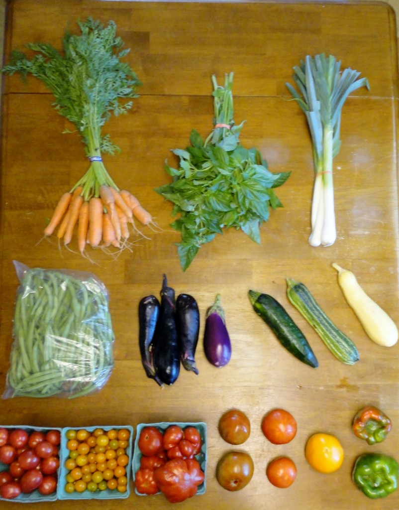 Summer CSA Haul Week 10