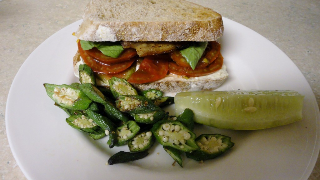 BLT with Okra and Pickle