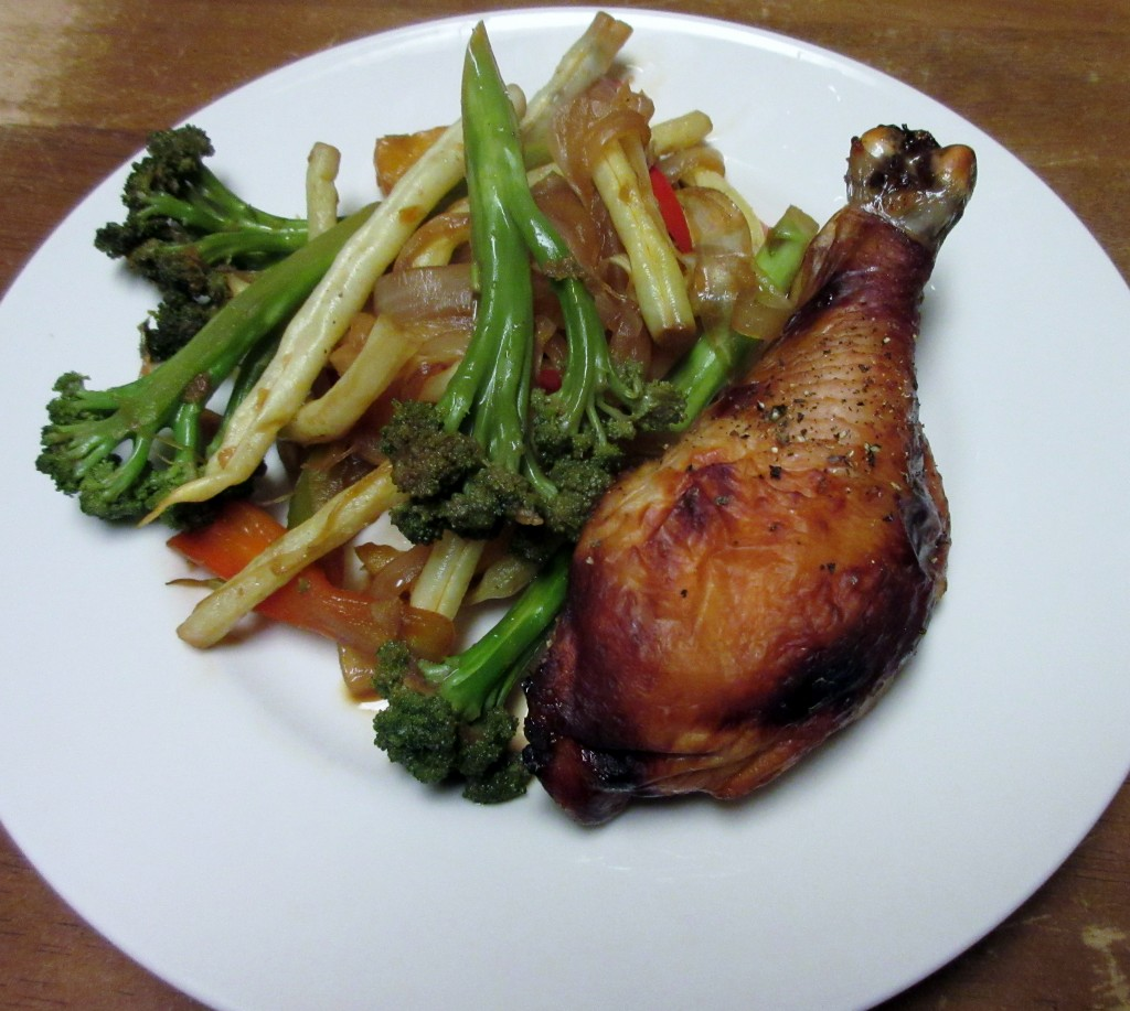 Soy Marinated Chicken and Stir Fried Vegetables