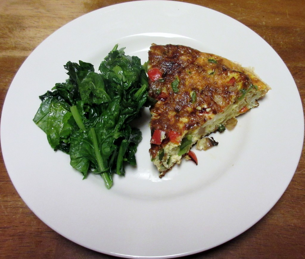 Bell Pepper Frittata and Sauteed Greens