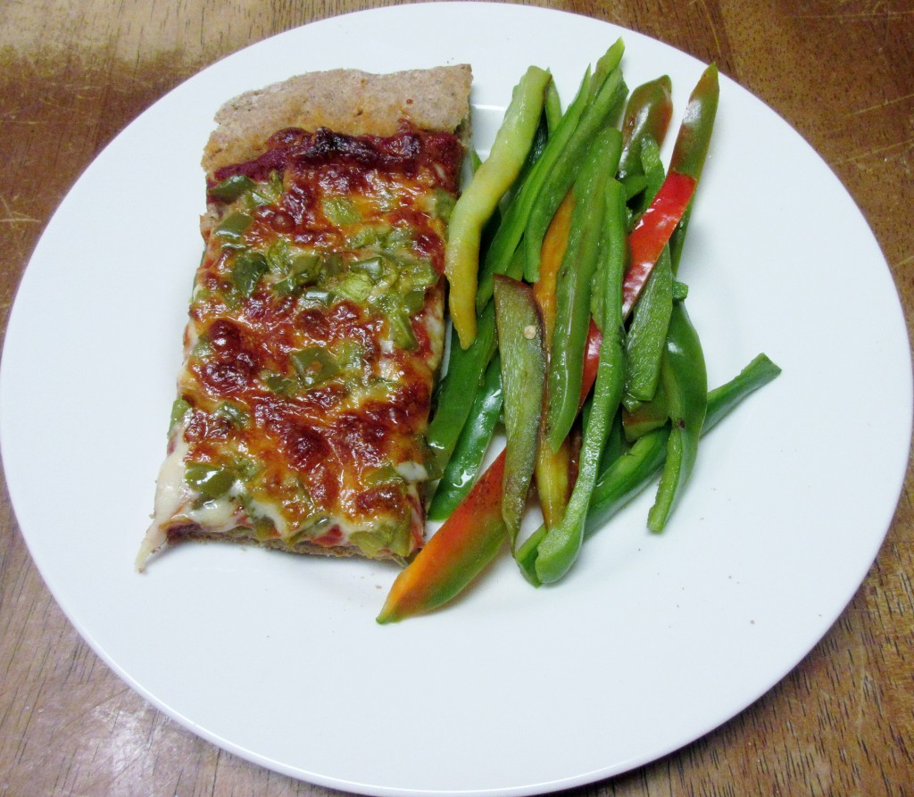 Pizza with Sauteed Peppers