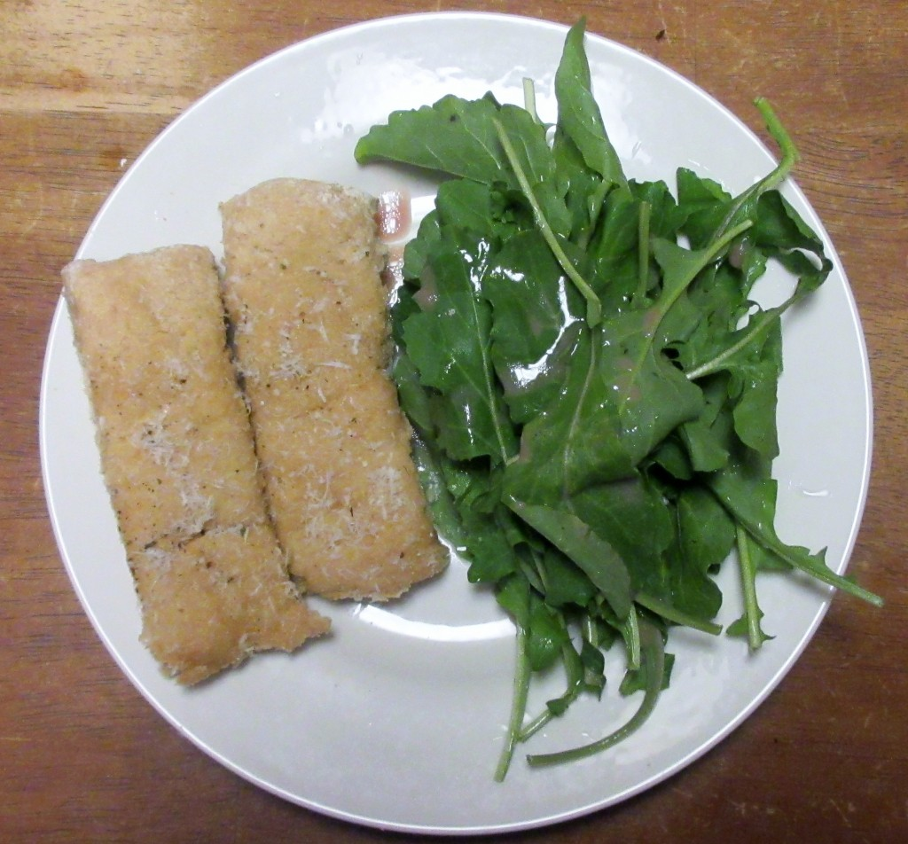Breadsticks and Arugula Salad