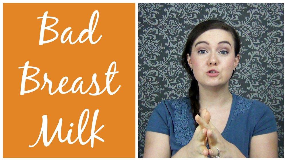Breast milk contamination think