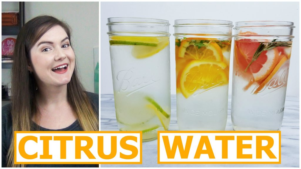 3 delicious citrus infused spa waters!