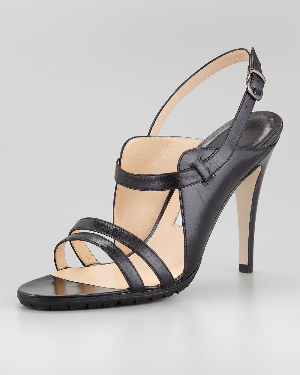Manolo Blahnik Dodo Double-Band Patent Sandal Black Sale 356.jpg