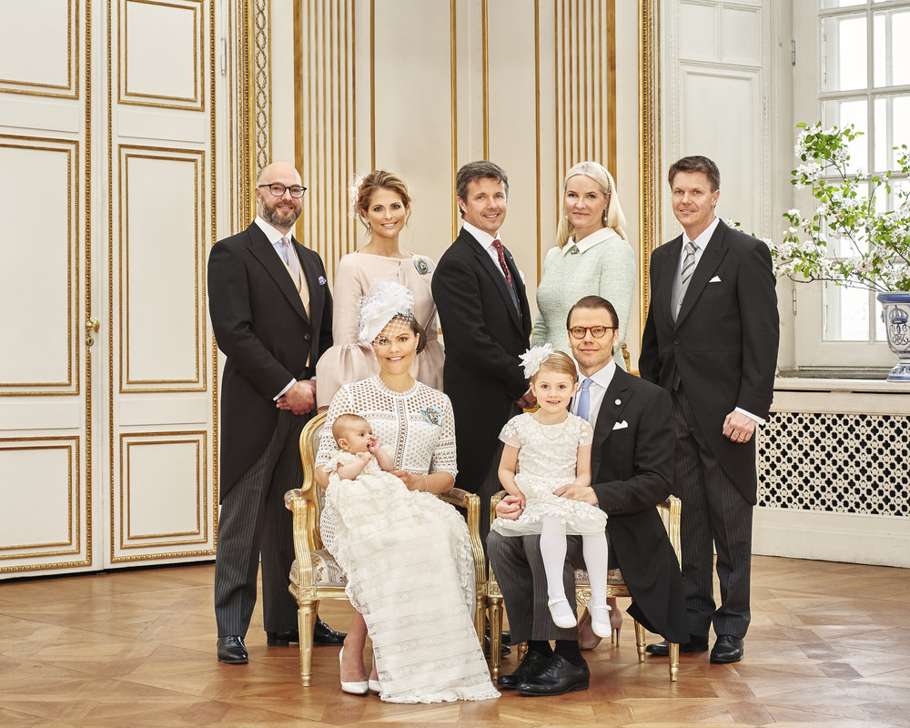 The godparents. Photo: Anna-Lena Ahlström The Royal Court, Sweden.