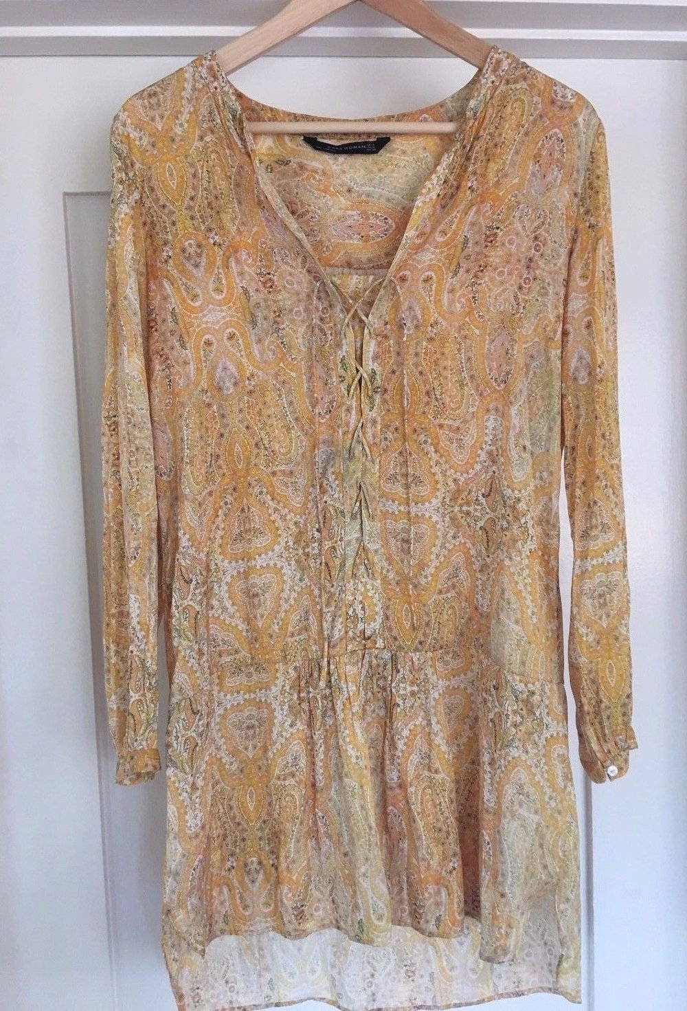 Zara-floral-paisley-dress-yellow-Size-M-boho.jpg