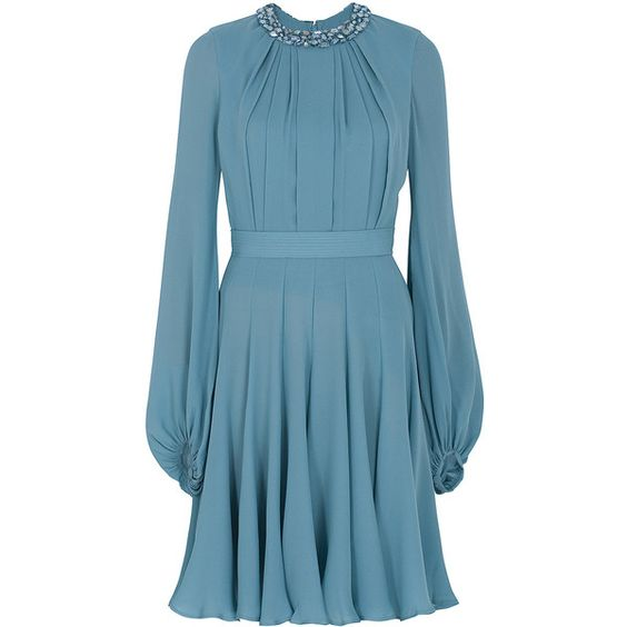 Elie Saab Beaded Neckline Shirt Dress.jpg