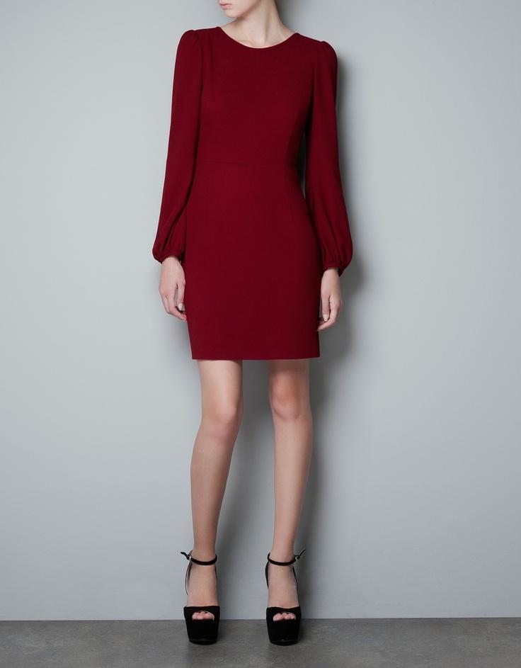 Zara Puff Sleeve Dress.jpg