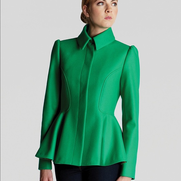Ted Baker Green Peplum Wool Jacket.jpg