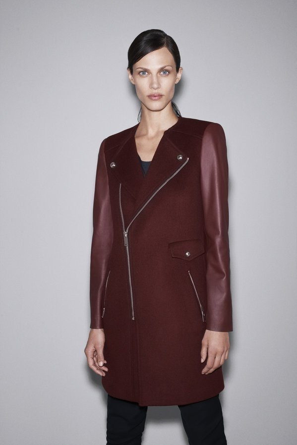 Zara Red Leather Trench.jpg