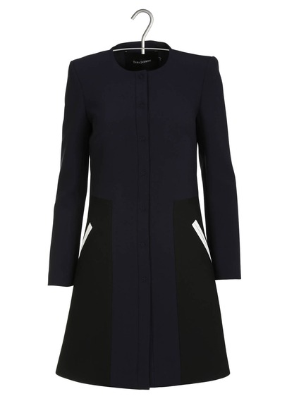 Discount Mode Femme Bleu TARA JARMON Manteau À Empiècements Shop 110.jpg