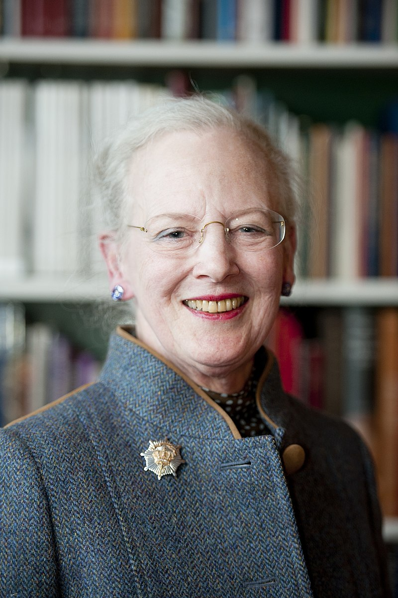 Queen Margrethe - Margrethe Alexandrine Þórhildur Ingrid was born on 16 April 1940 in Copenhagen's Amalienborg Palace as the child of King Frederick IX and Queen Ingrid just one week before the Nazis invaded Denmark. She has two younger sisters: Princess Benedikte and Queen Anne-Marie of Greece.Well educated, she's studied at Girton College: Cambridge, Aarhus University, and London School of Economics. She came to the throne upon the death of her father on 14 January 1972.She married French-born Count Henri de Laborde de Monpezat (later changed to the Danish