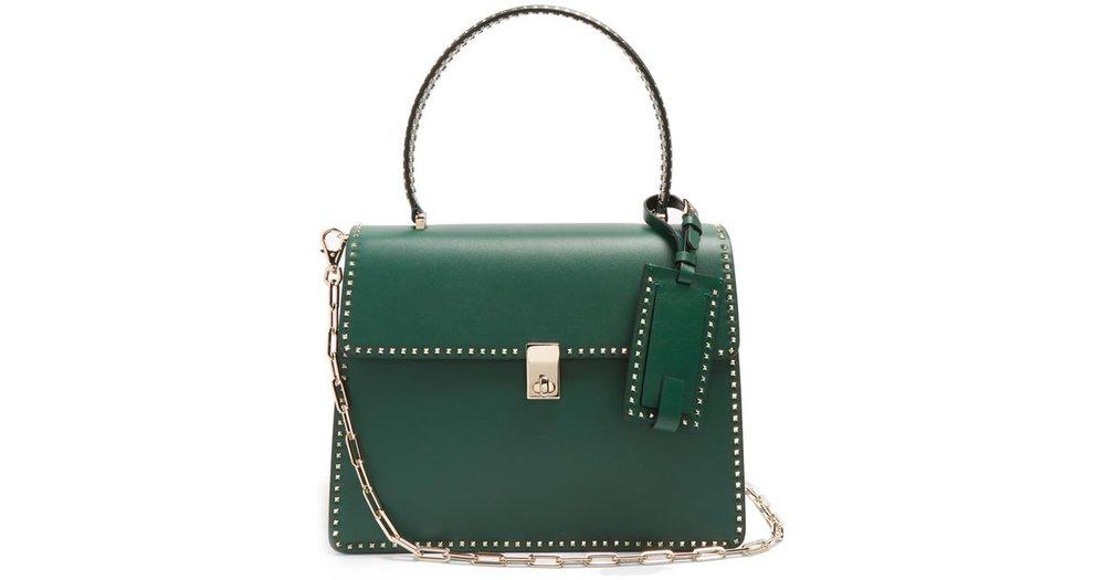 valentino-green-stud-stitching-leather-tote.jpeg