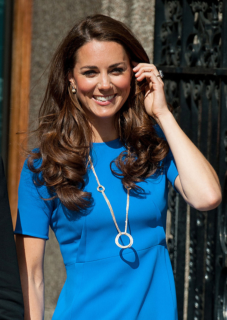 Duchess of Cambridge - Catherine Elizabeth Middleton was born on 9 January 1982, in Reading, Berkshire, England as the oldest child of Michael and Carole Middleton. She began attending St. Andrews University in 2001 where she met and began dating Prince William. She majored in Art History and graduated with a MA. William proposed on a trip to Kenya in 2010, with his mother's sapphire engagement ring. They married in Westminster Abbey on 29 April 2011. Their first child, Prince George Alexander Louis was born at St. Mary's Hospital on 22 July 2013. Their second child, Princess Charlotte Elizabeth Diana was born on 2 May 2015. On 23 April 2018, their third child, Prince Louis was born.Photo: Prachatai/Flickr