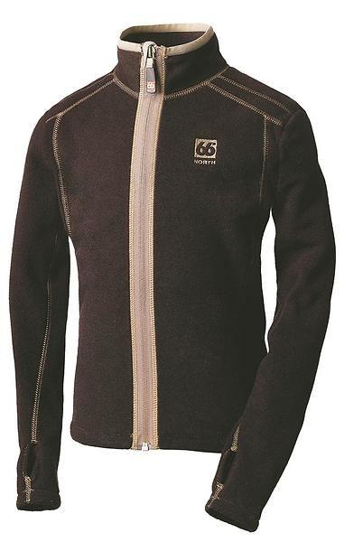 66 North Junior Svart Loki Jacket Lockande Mellanlager - 34GA-4595.jpg