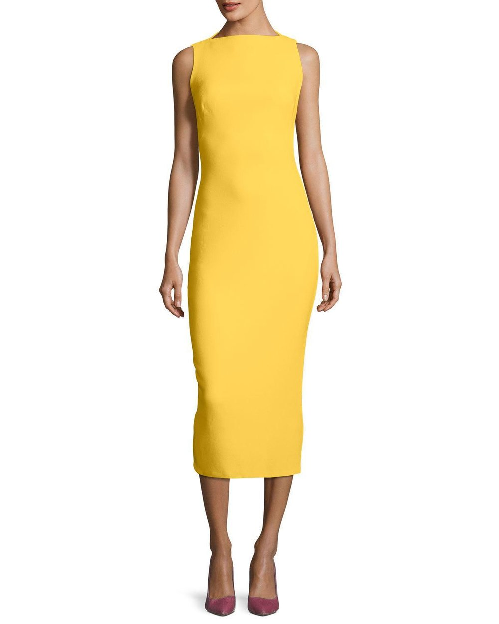 brandon-maxwell-YELLOW-Sleeveless-Boat-neck-Double-face-Crepe-Sheath-Midi-Dress.jpeg
