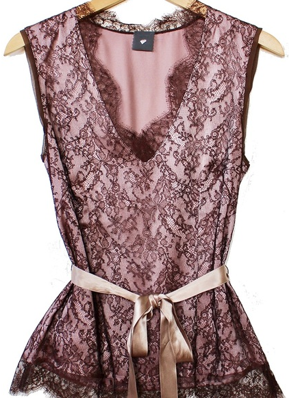 Heartmade Brown Lace Blouse.png