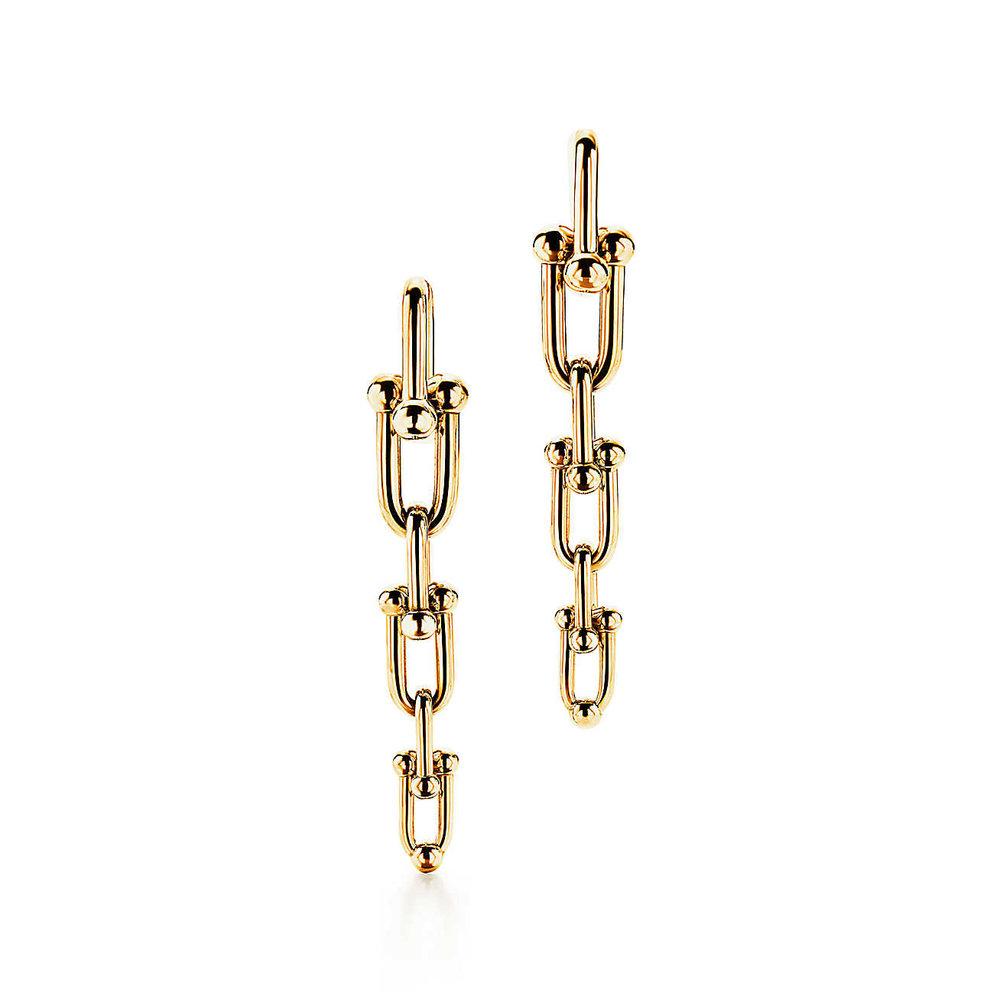 Tiffany HardWear Link gold earrings MO.jpg