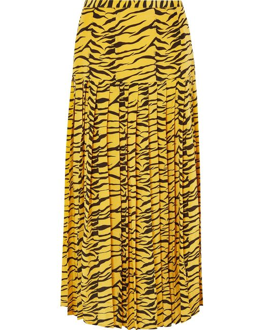 rixo-zebra-print-Tina-Pleated-Tiger-print-Silk-Crepe-De-Chine-Skirt.jpeg