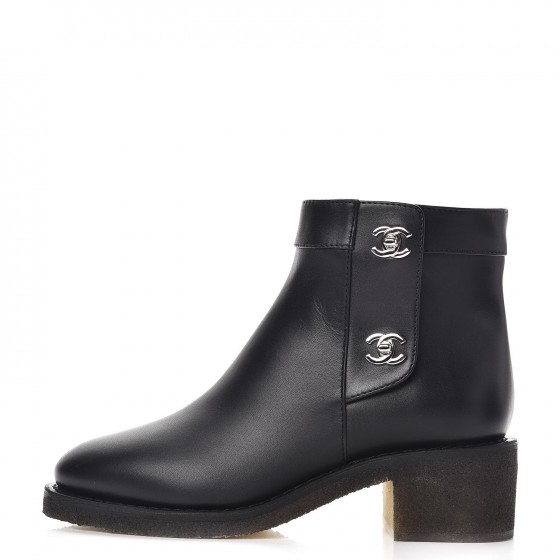 5a1c45819b Chanel Calfskin CC Turnlock Ankle Boots — UFO No More