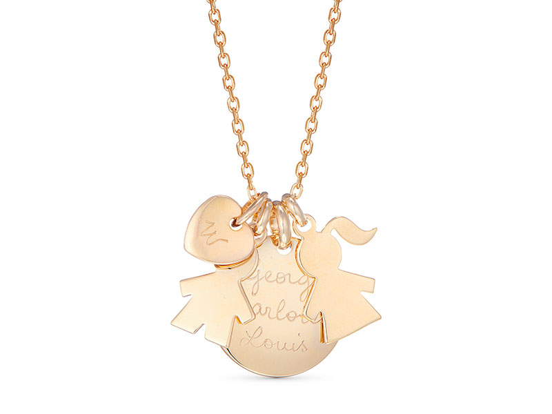 Merci Maman The Duchess Necklace in Gold — UFO No More