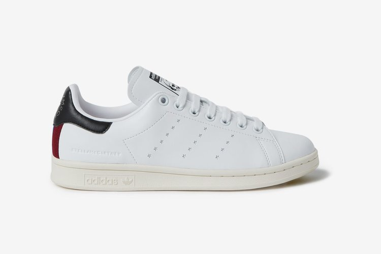 cheap for discount 4bc9d a52e5 Adidas x Stella McCartney Grosgrain-Trimmed Faux Leather ...
