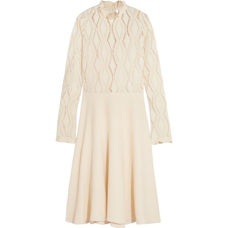 6e2b88d5fa See by Chloé Lacy Jersey Long Sleeve Dress — UFO No More