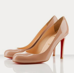buy popular 511dd 8ac99 Christian Louboutin Simple 100 Pumps in Nude Patent Leather ...