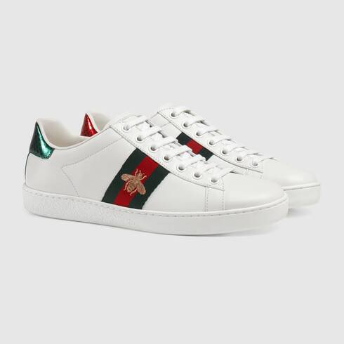 Gucci Ace Bee-Embroidered Sneakers in