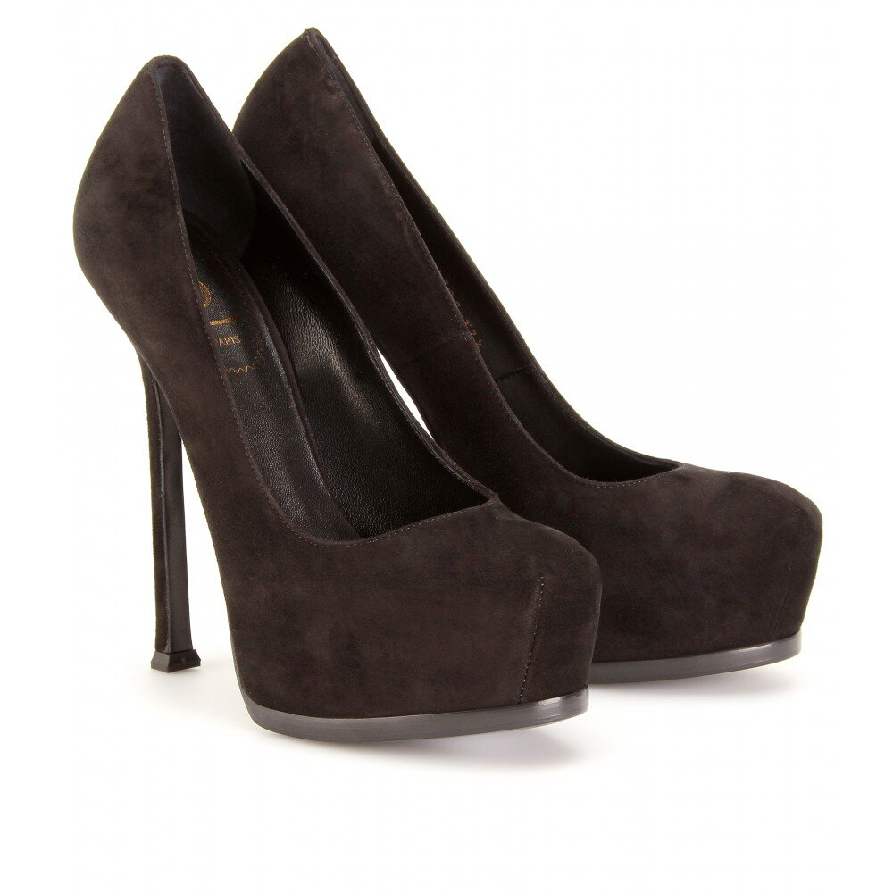 YSL Pumps Yves Saint Laurent Tribute Suede Black | yes