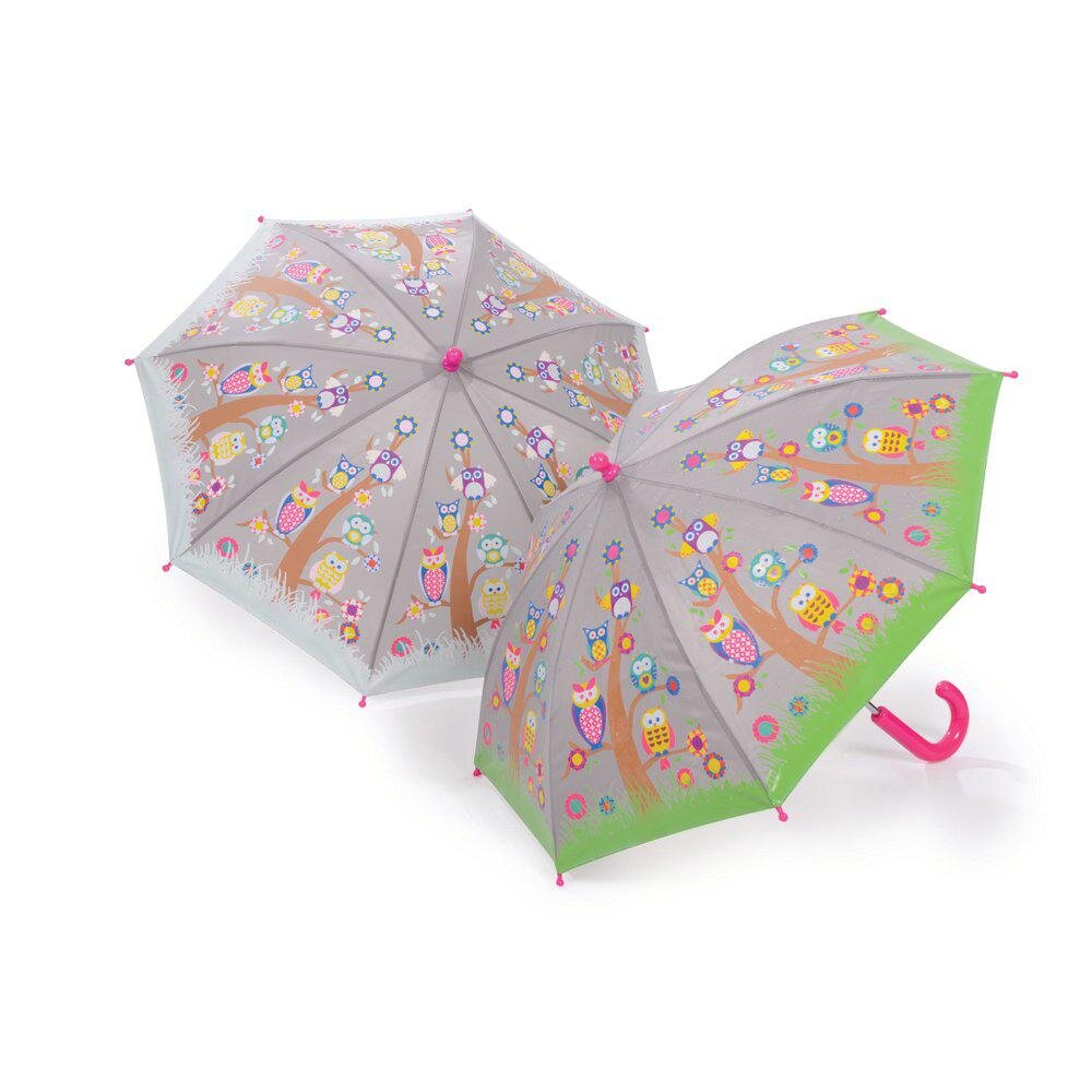Floss Rock Colour Changing Umbrella In Owl And Tree Print Ufo No More