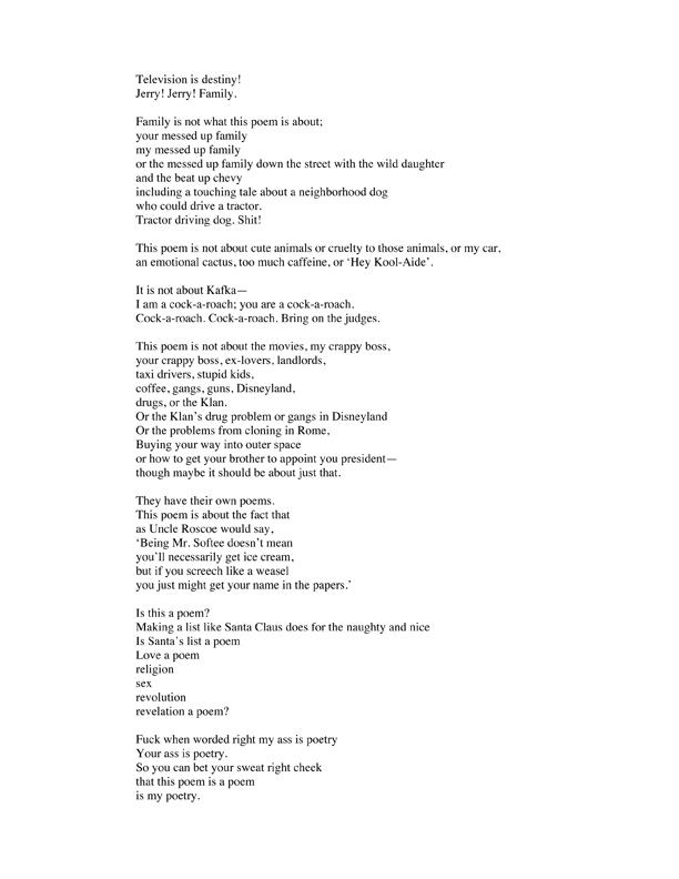 potato clock poem