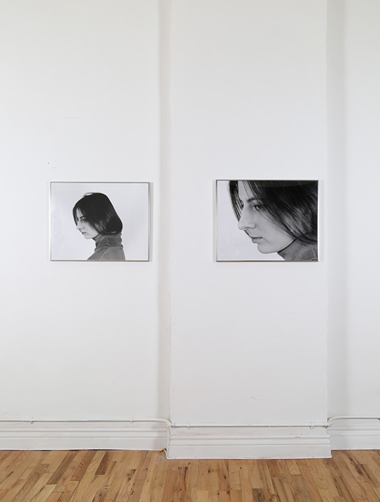 Installation view,  Marina Projections (26 Inches & 38 Inches from Paper), 2016,  Suite of 2 gelatin silver prints, 16 x 20 inches each