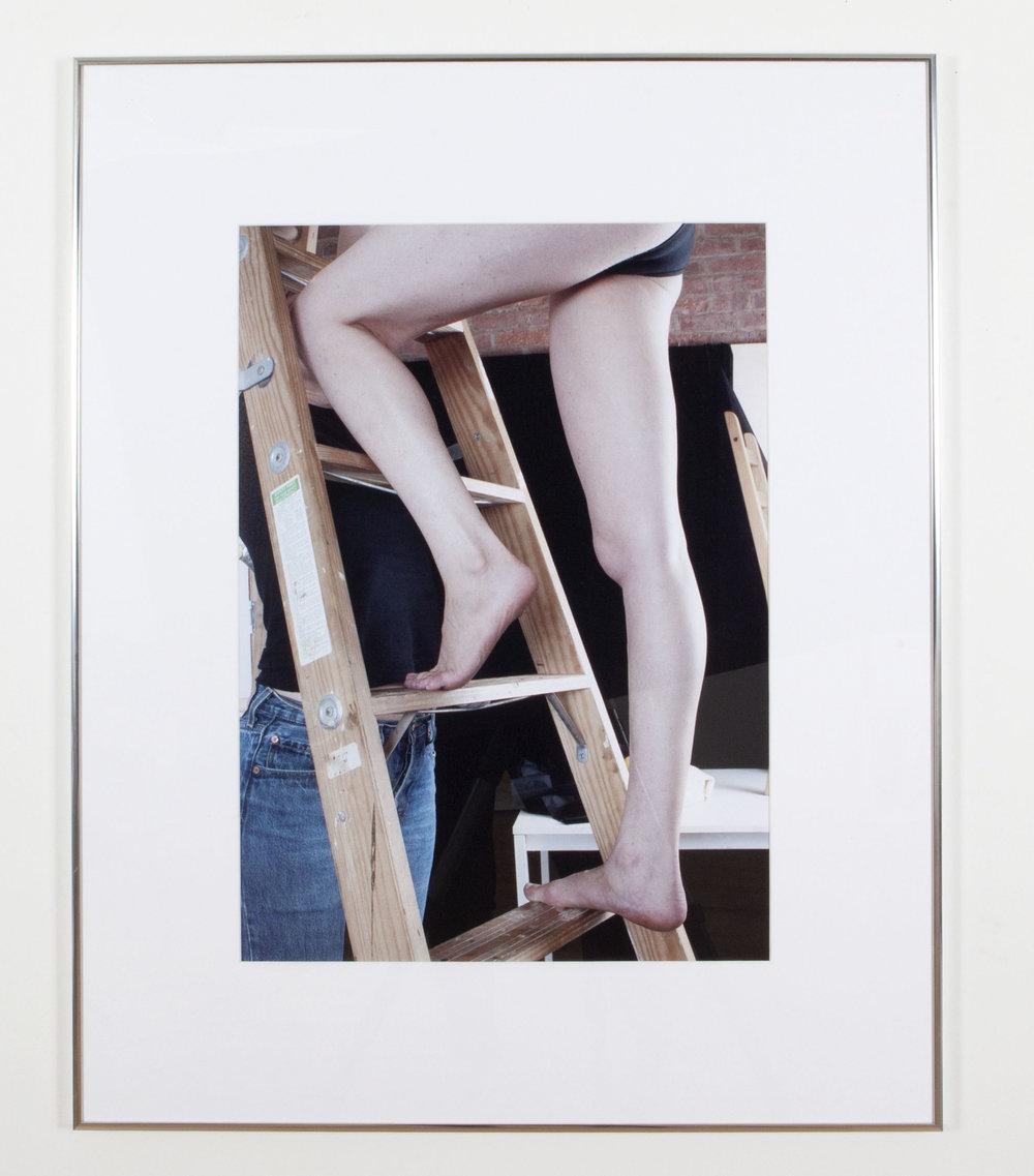 Ladder, Legs, Spot, 2017, inkjet print, 29 x 38 inches framed