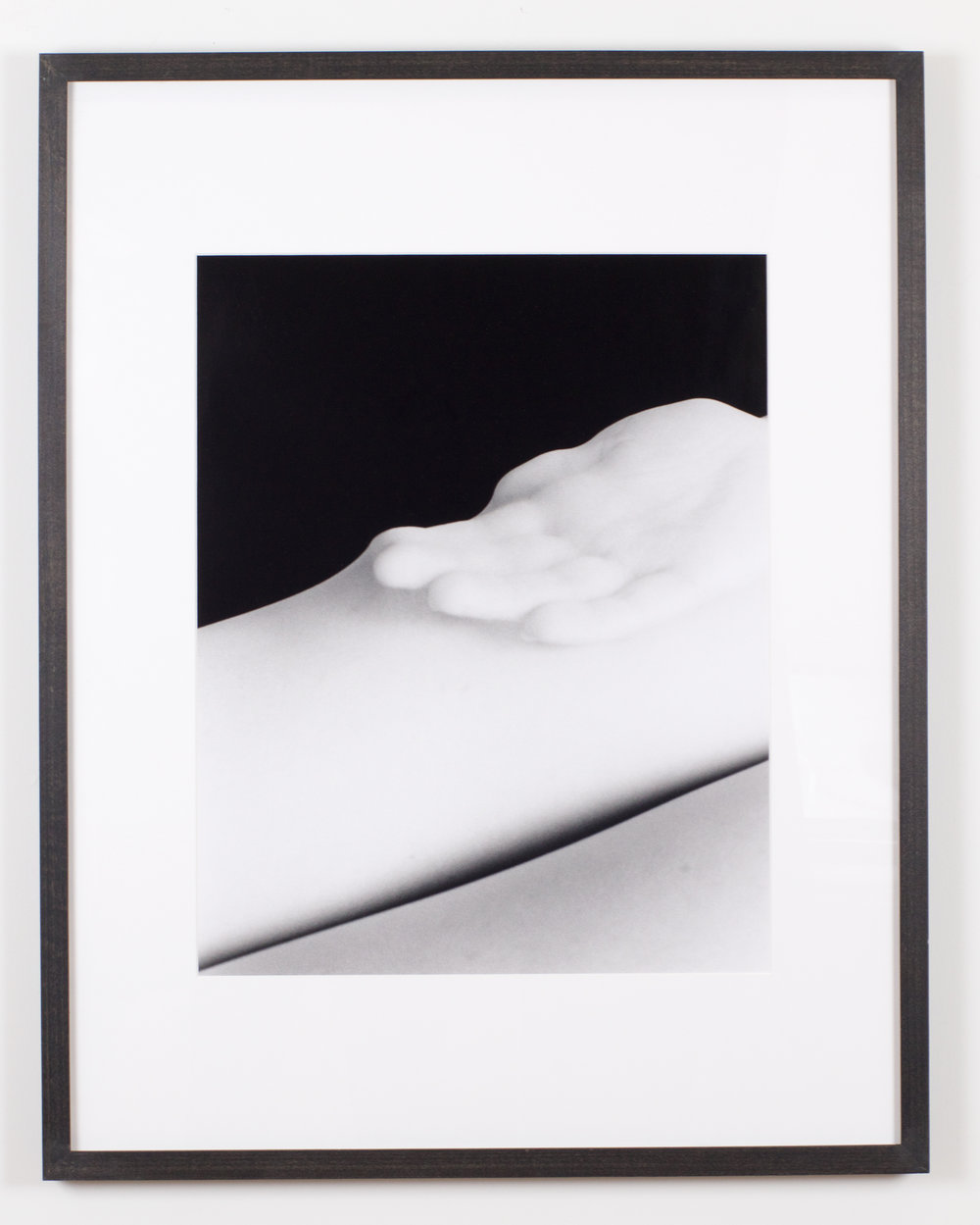 Hand in Tights 2 , 2016, gelatin silver print, 24 x 30 inches framed
