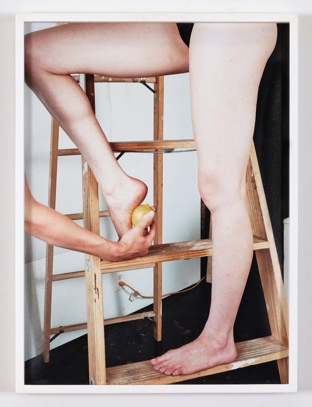 Ladder, Legs, Lemon , 2015, inkjet print, 22.5 x 15 inches