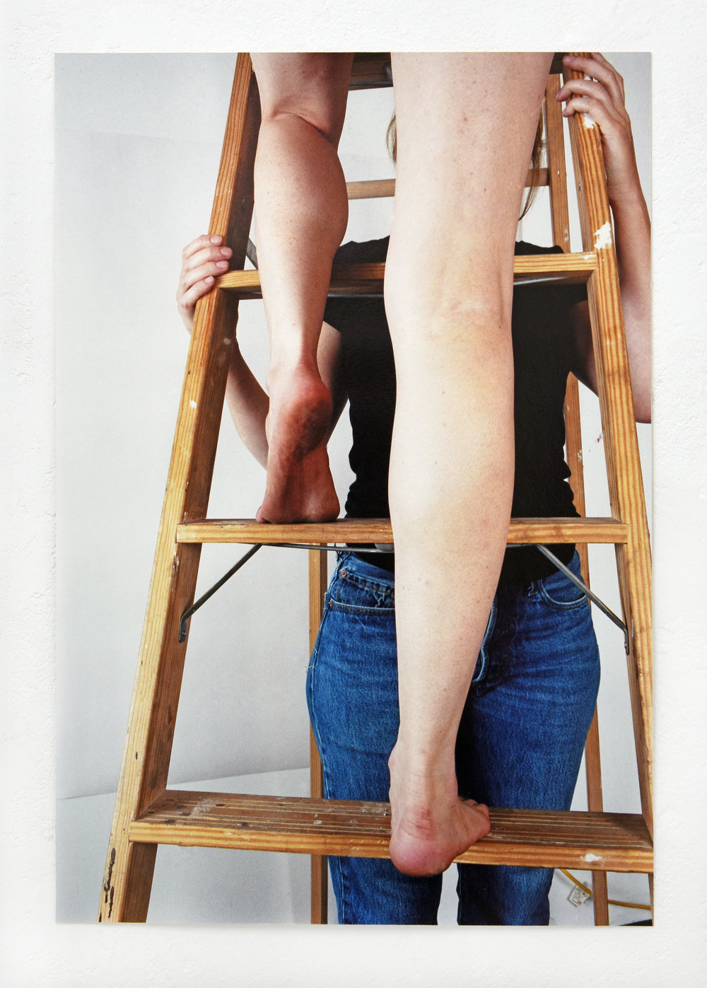 Ladder, Legs, Spot (Front/Back View) , 2016, inkjet print, 23 x 16 inches