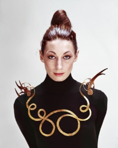 Alexander Calder,  The Jealous Husband  (1940), on Anjelica Huston