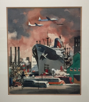 Dong Kingman,  Dockside  (1950s)