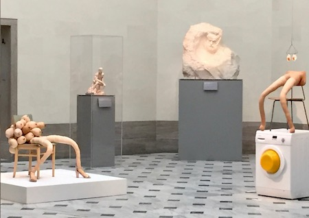 "Installation view of Sarah Lucas ""Good Muse"" at Legion of Honor"