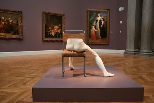 Sarah Lucas,  Paulin e (2015) seen in installation at Legion of Honor, SF