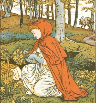 Walter Crane,  Little Red Riding Hood  (detail)