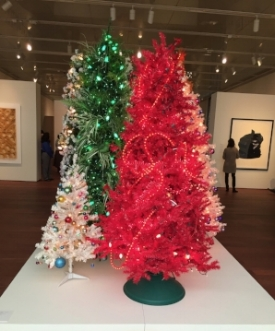 Christmas trees designed by Chuck Ramirez for Linda Pace