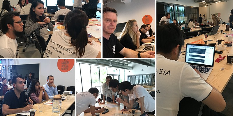 Teams prepare and pitch at Asia's first sextech hackathon in Singapore.