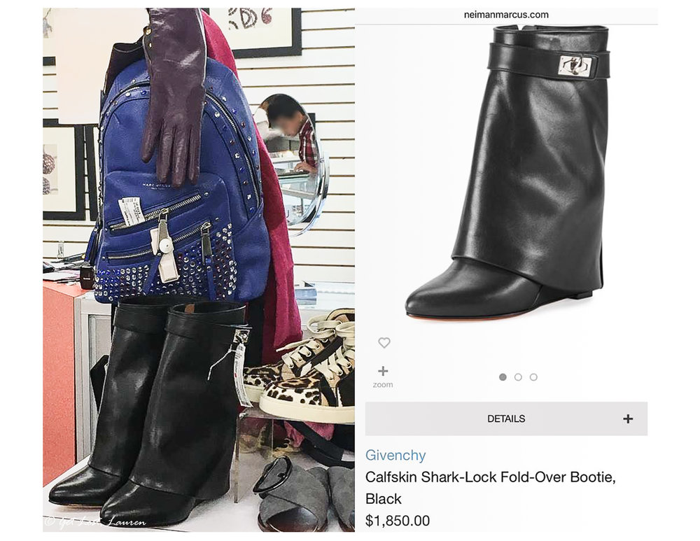 Most of the high-end items are behind the jewelry counter. The Givenchy boots were $900 compared to $1850 at Neiman's.